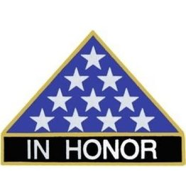 "MidMil Flag Memorial Triangle ""In Honor"" Pin 1"""