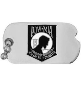 "MidMil POW*MIA Dog Tag Pin 1"""