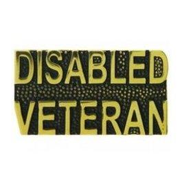 """Disabled Veteran Text Pin 1 1/4"""""""