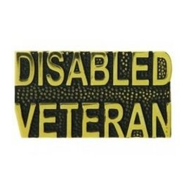 MidMil Disabled Veteran Text Pin 1 1/4""