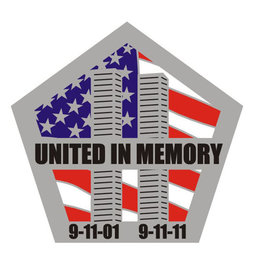 "MidMil September 11th 10th Anniversery Pin ""United in Memory"" Pin 1 1/4"""
