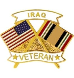 MidMil Iraq Veteran Flags Pin 1 1/4""