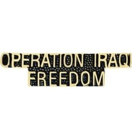 MidMil Operation Iraqi Freedom Text Pin 1 1/2""