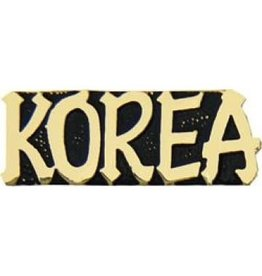 Korea Text Pin 1 1/8""