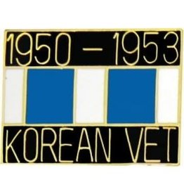 MidMil Korea Veteran 1950-1953 Pin with Ribbon 1""