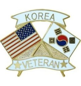 MidMil Korea Veteran Flags Pin 1 1/4""