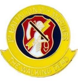 "1st Battalion 9th Marines ""The Walking Dead"" Pin 1"""