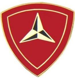 "3rd Marine Division Emblem Pin 7/8"""