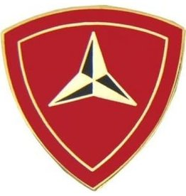 "MidMil 3rd Marine Division Emblem Pin 7/8"""