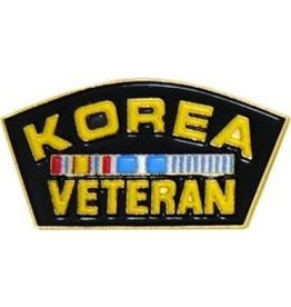 MidMil Korea Veteran with Ribbons Pin 1 1/4""