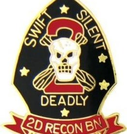 """MidMil Marines 2nd Recon """"Swift Silent Deadly"""" Pin 1"""""""