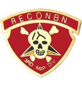"""MidMil Marine Corps 3nd Recon Pin 1 1/8"""""""