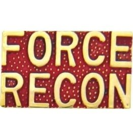"""MidMil Marines Force Recon Text Pin 1"""""""