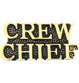 """Crew Chief Text Pin 1 1/8"""""""