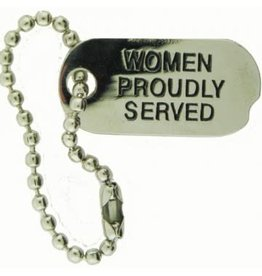 MidMil Women Proudly Served Dog Tag Pin 1""