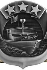 "MidMil Navy River Patrol Force Craft Badge Pin 1 1/2"""