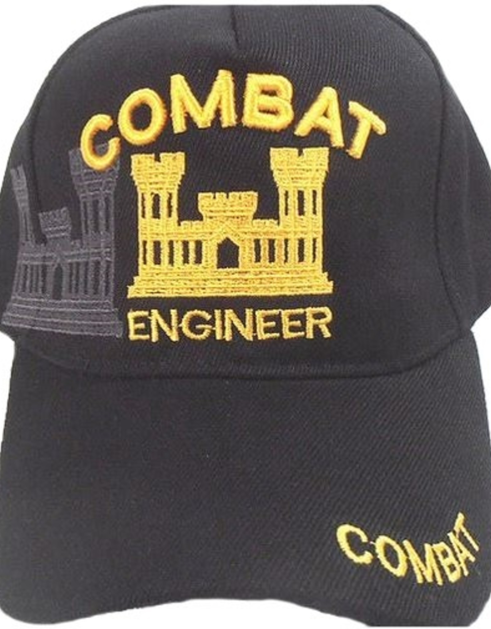 MidMil Combat Engineer Hat with Emblem and Shadow Black