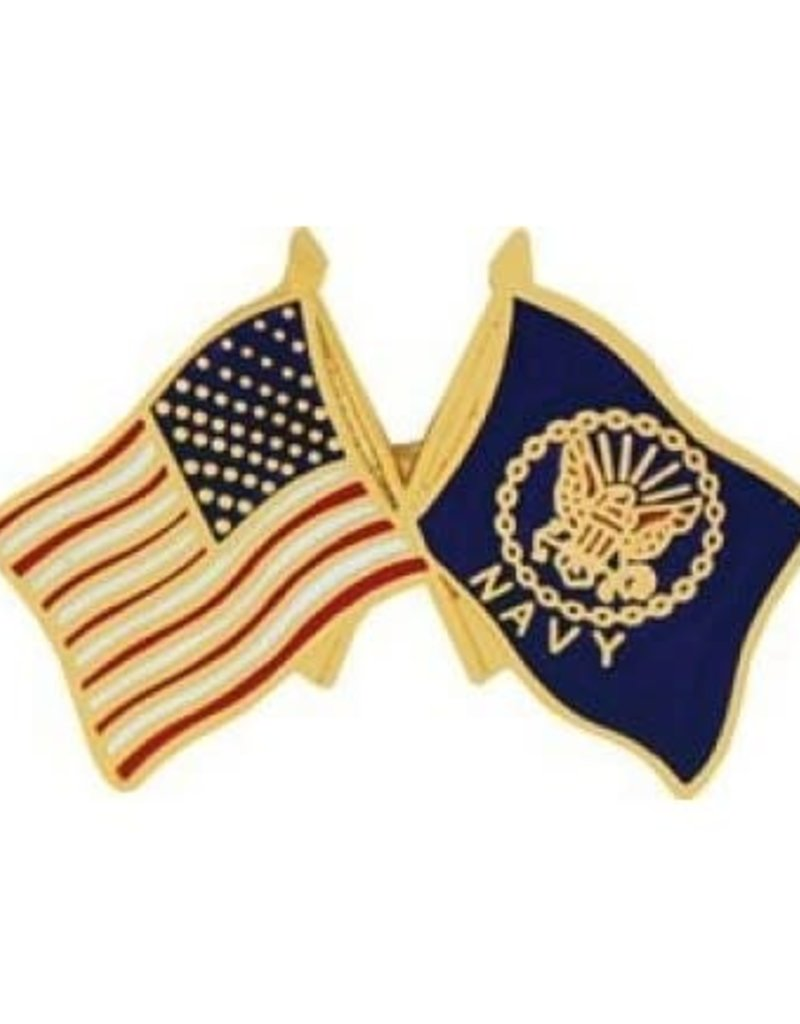 MidMil Navy Flags Pin 1""