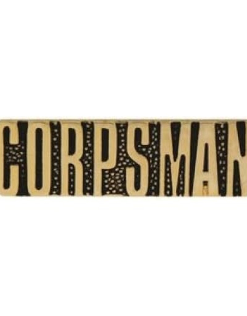 MidMil Navy Corpsman Text Pin 1 1/8""