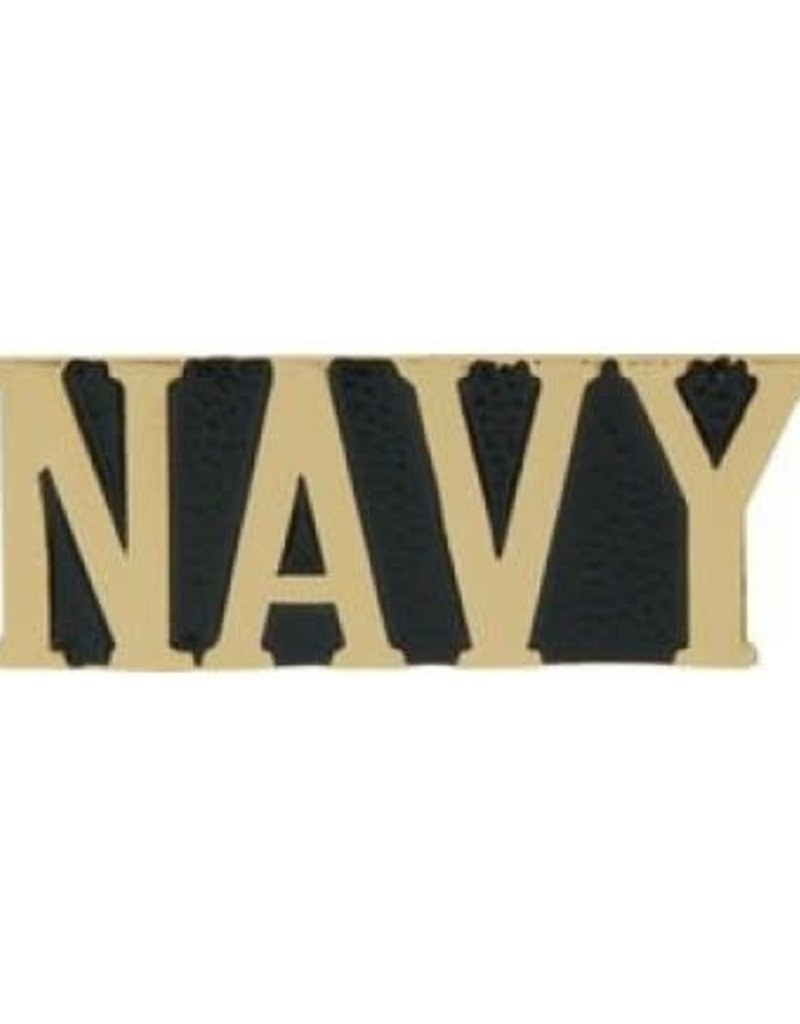 MidMil Navy Text Pin 1 1/8""