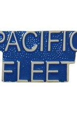 MidMil Pacific Fleet Text Pin 1 1/8""