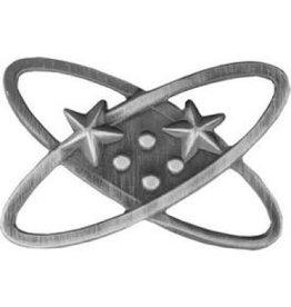 "MidMil Navy Electronics Technician Rating Badge Pin  1 1/8"""