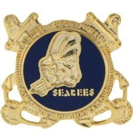 """MidMil Navy Seabees Insignia Pin 7/8"""""""