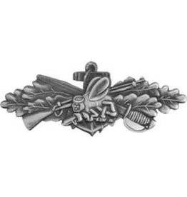 """MidMil Navy Seabees Combat Service Pin 1 1/2"""""""