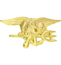 """MidMil Navy SEAL Trident Pin 2 3/4"""" Gold"""