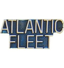 MidMil Atlantic Fleet Text Pin 1 1/4""