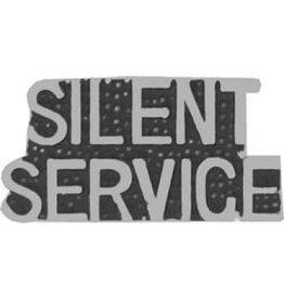 MidMil Silent Service Text Pin 1 1/8""