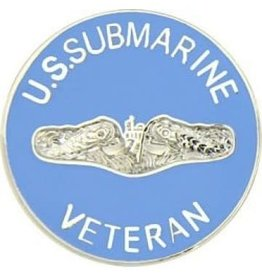 MidMil U.S. Submarine Veteran Pin 7/8""
