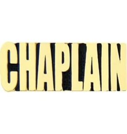 MidMil Chaplain Text Pin 1 1/8""