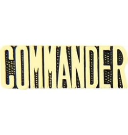 MidMil Commander Text Pin 1 1/4""