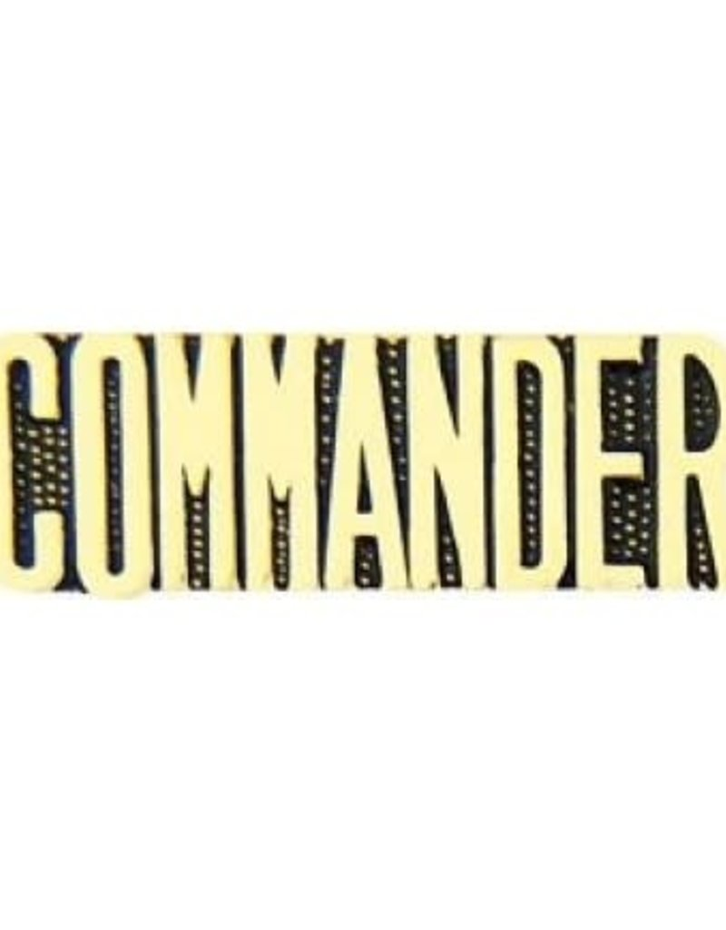 "MidMil Commander Text Pin 1 1/4"""