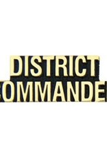 """MidMil District Commander Text Pin 1 1/4"""""""