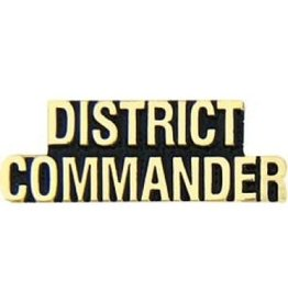 MidMil District Commander Text Pin 1 1/4""
