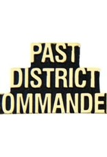 MidMil Past District Commander Text Pin 1 1/4""