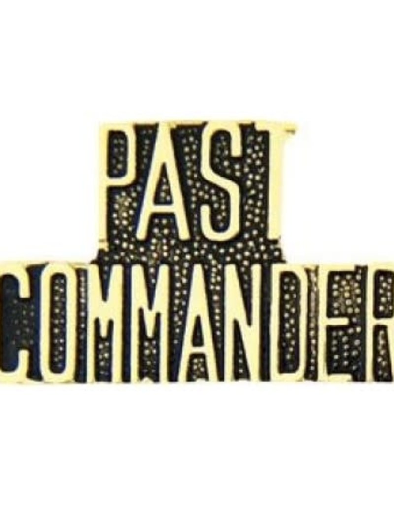 MidMil Past Commander Text Pin 1 1/4""