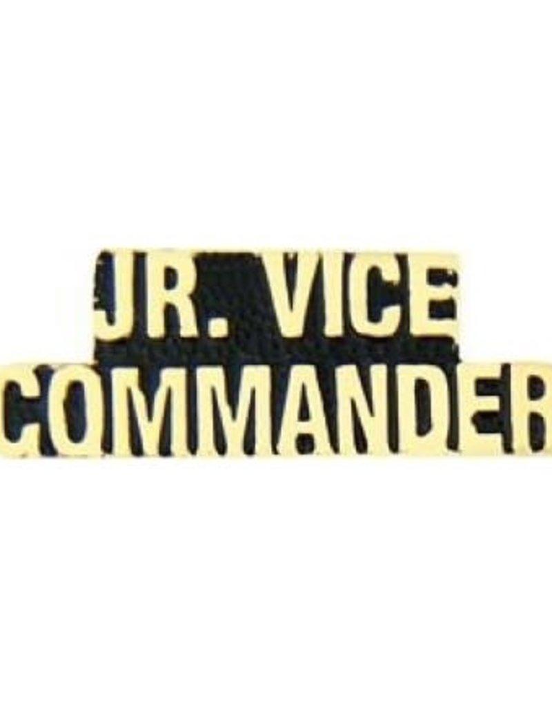 """MidMil Jr. Vice Commander Text Pin 1 1/4"""""""