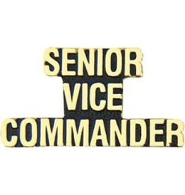 MidMil Senior Vice Commander Text Pin 1 1/4""