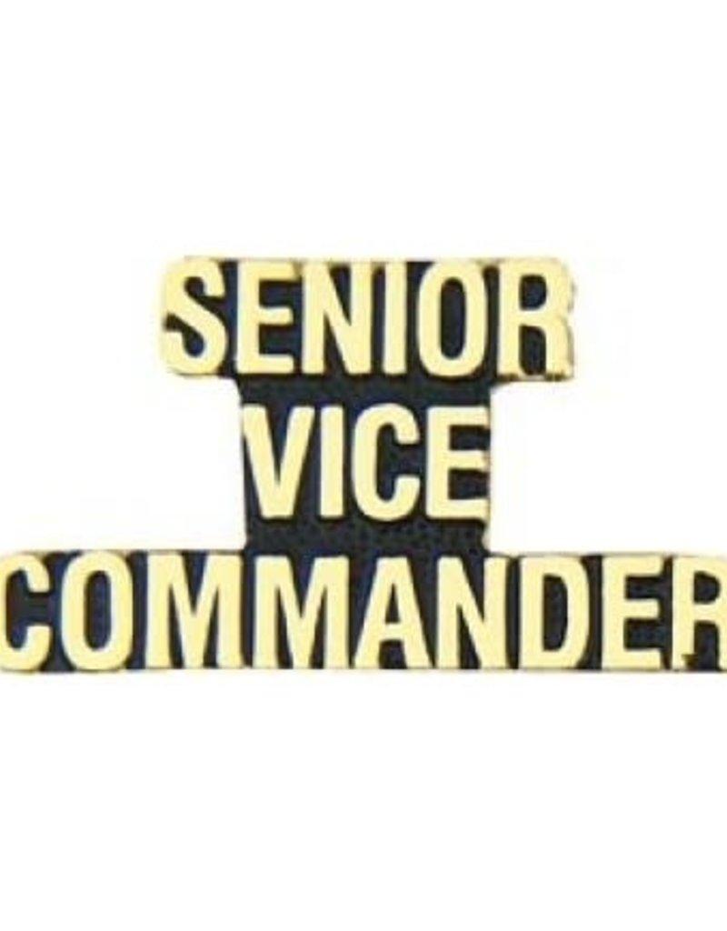 "MidMil Senior Vice Commander Text Pin 1 1/4"""