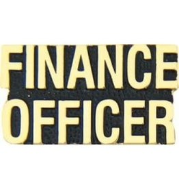 MidMil Finance Officer Text Pin 1 1/8""