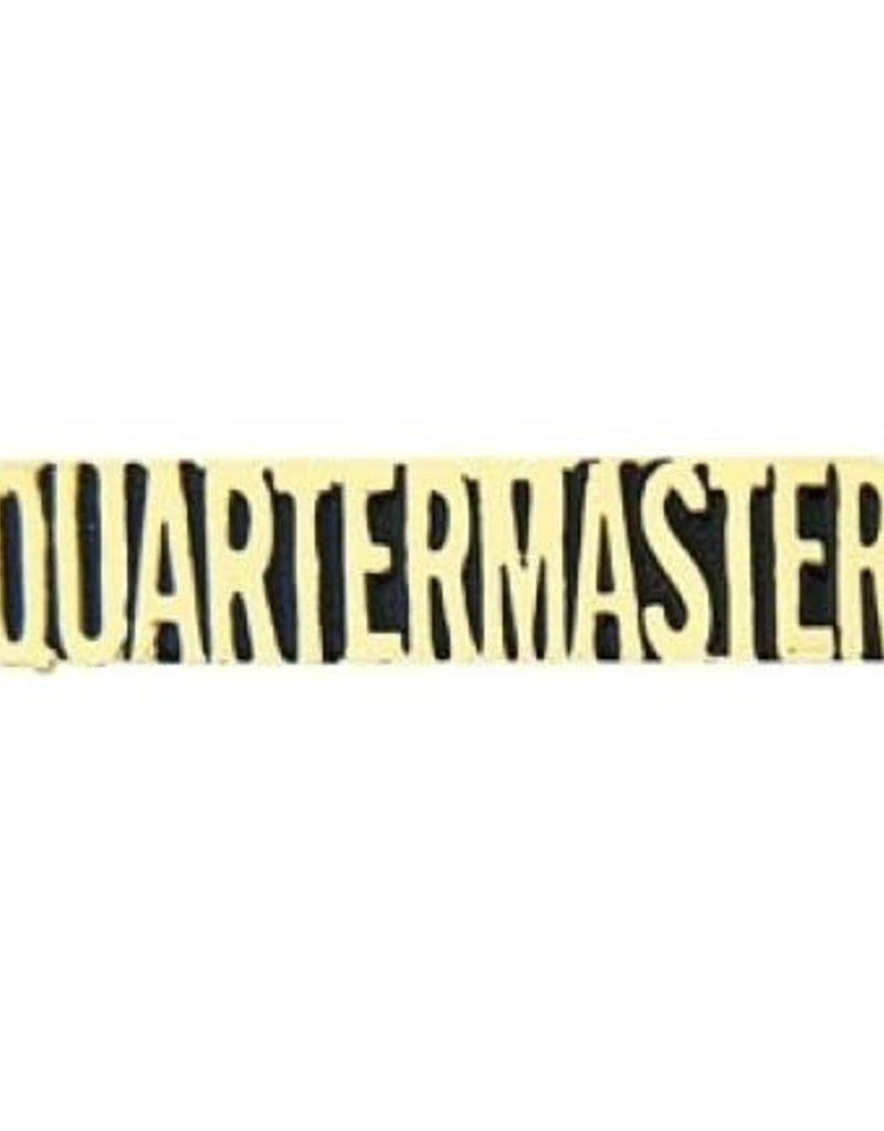 "MidMil Quartermaster Text Pin 1 1/4"""