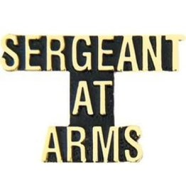 MidMil Sergeant at Arms Text Pin 1 1/4""