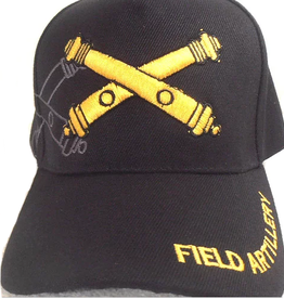 Army Field Artillery Hat with Emblem and Shadow Black