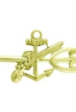 "MidMil Navy Special Warfare Operator (UDT) Badge Pin  1 1/4"" Gold"