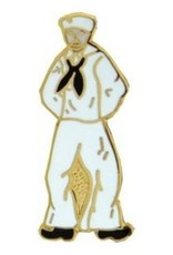 MidMil Navy Sailor Pin 1""