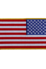 "MidMil Embroidered Reverse American Flag Patch 5"" wide  x 3"" high"