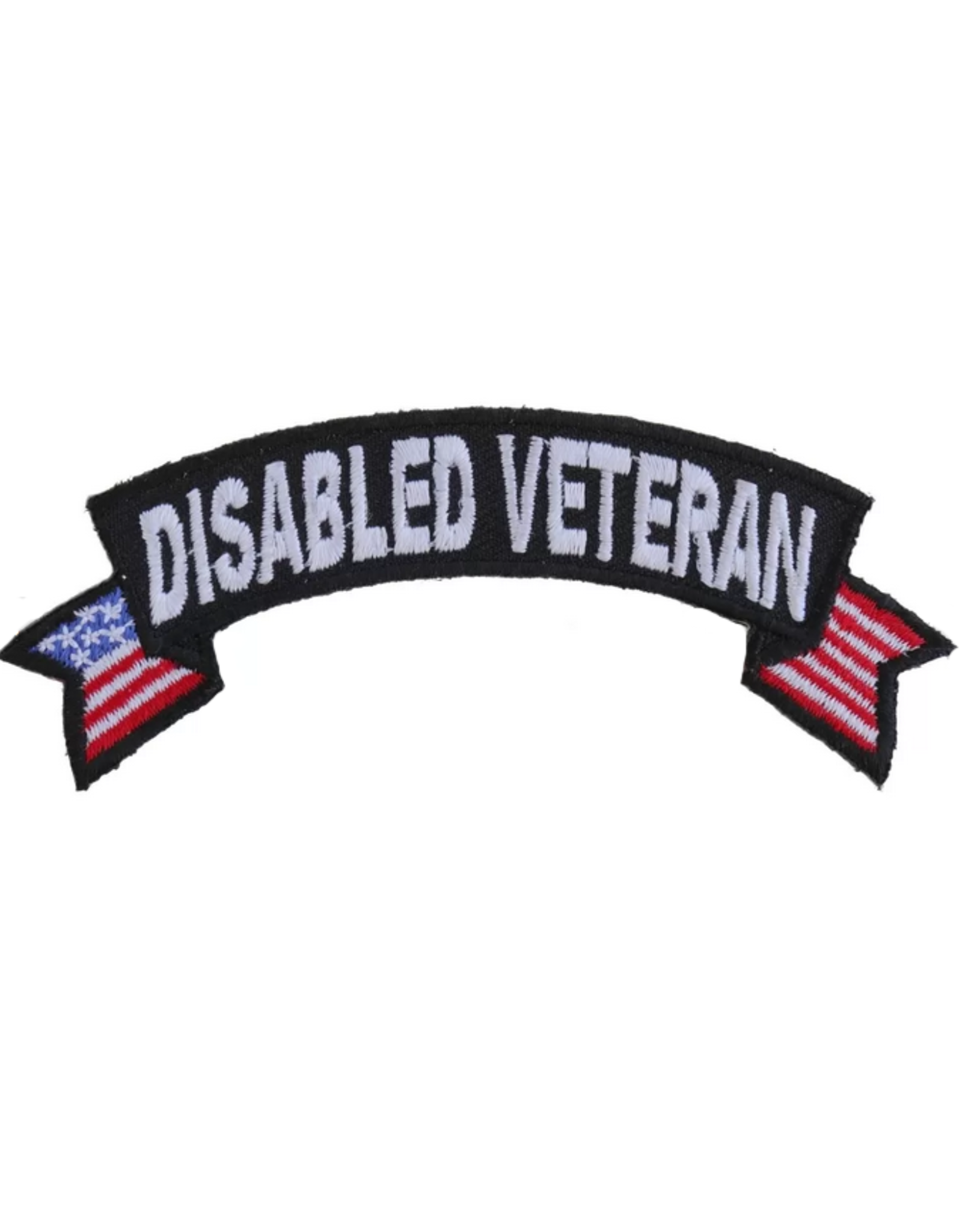 """MidMil Embroidered Disabled Veteran Tab Patch with USA tails 4"""" wide x 1.5"""" high"""